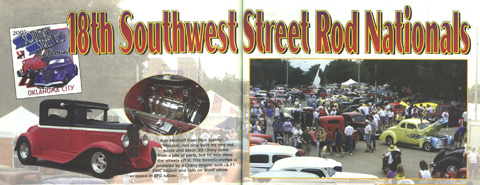 Street Scene magazine article featuring a car (left page) for which Jim created new wood